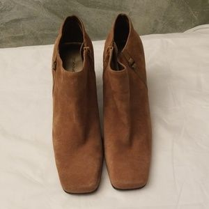 Bandolino Brown B-Urbane Leather Ankle Booties 8.5
